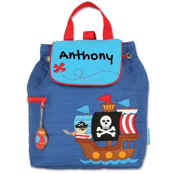 Stephen Joseph Pirate Quilted Backpack With Personalization