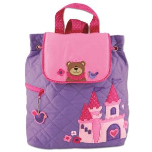 Stephen Joseph Princess Bear Quilted Backpack