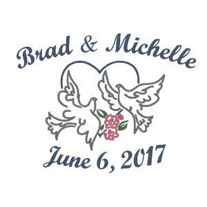Wedding Throw – Doves In Heart