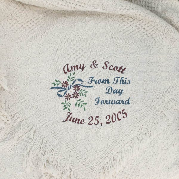 From This Day Forward Wedding Throw Blanket
