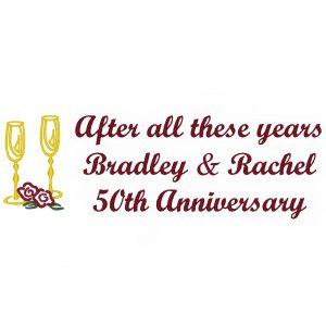 Wedding Throw – Gold Glasses Anniversary