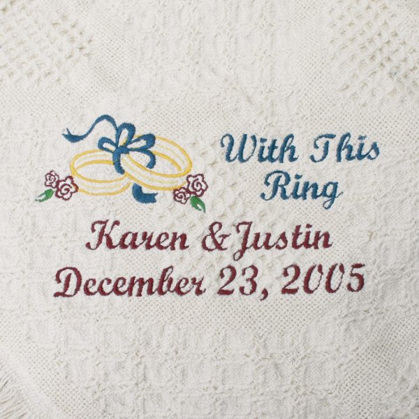 With This Ring Wedding Throw Blanket