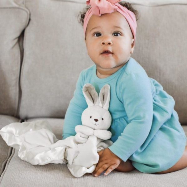 Yikes Twins Bunny Lovie (20 Inch) With Baby