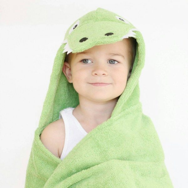 Yikes Twins Alligator Hooded Towel