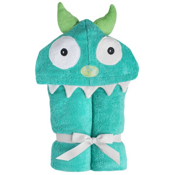 Yikes Twins Blue Monster Hooded Towel