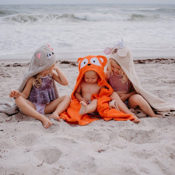 Yikes Twins Cat, Fox, And Llama Hooded Towels