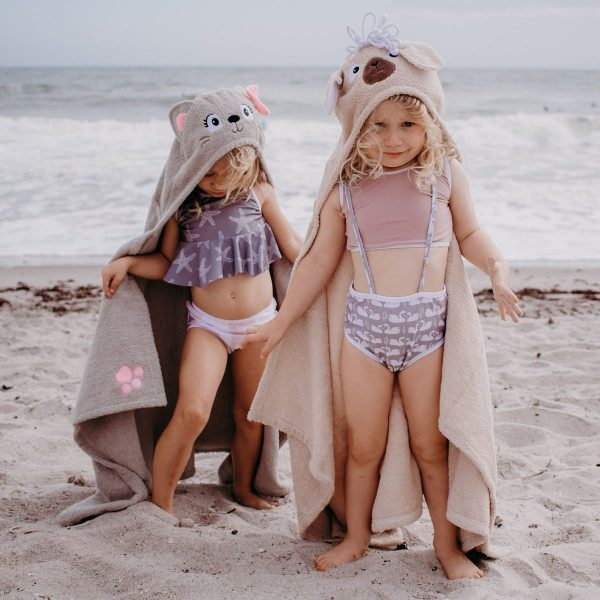 Yikes Twins Cat And Llama Hooded Towels