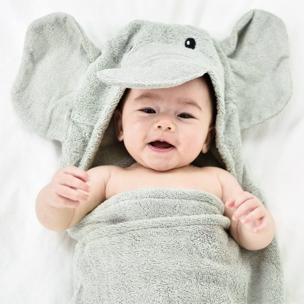 Yikes Twins Elephant Hooded Towel