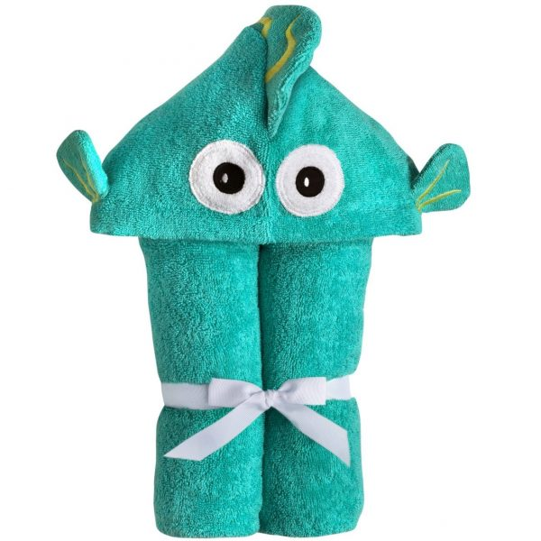 Yikes Twins Fish Hooded Towel