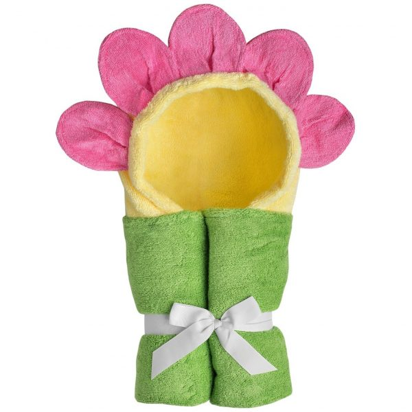 Yikes Twins Flower Hooded Towel