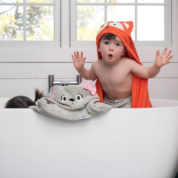 Yikes Twins Fox And Cat Hooded Towels
