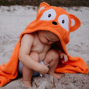 Yikes Twins Fox Hooded Towel