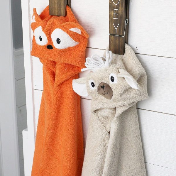 Yikes Twins Fox And Llama Hooded Towels