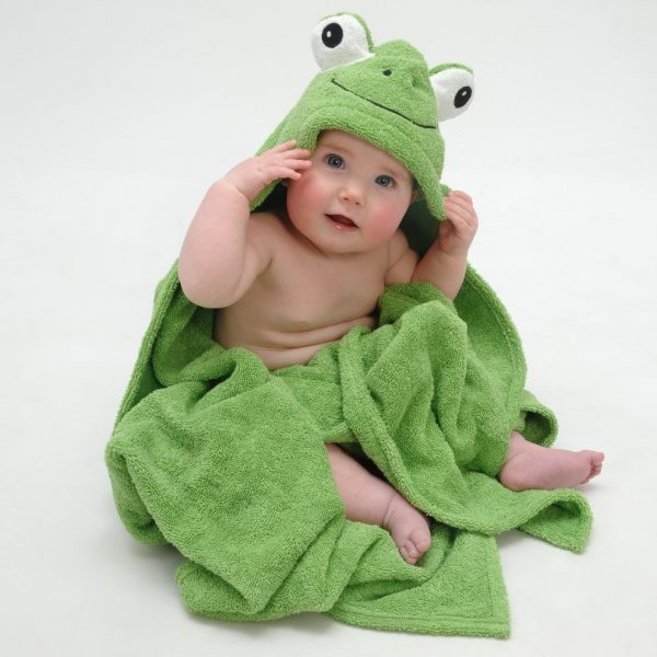 Yikes Twins Frog Hooded Towel