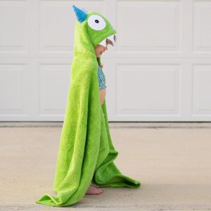 Yikes Twins Green Monster Hooded Towel