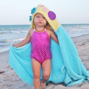 Yikes Twins Mermaid Hooded Towel