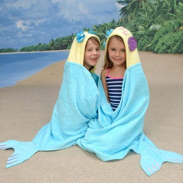 Yikes Twins Mermaid Hooded Towel