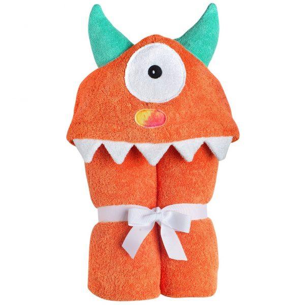Yikes Twins Orange Monster Hooded Towel