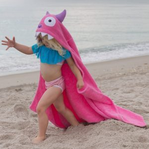 Yikes Twins Pink Monster Hooded Towel