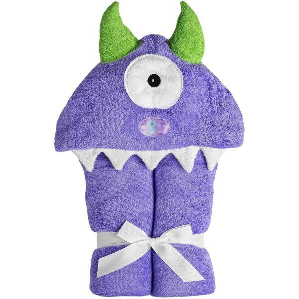 Yikes Twins Purple Monster Hooded Towel