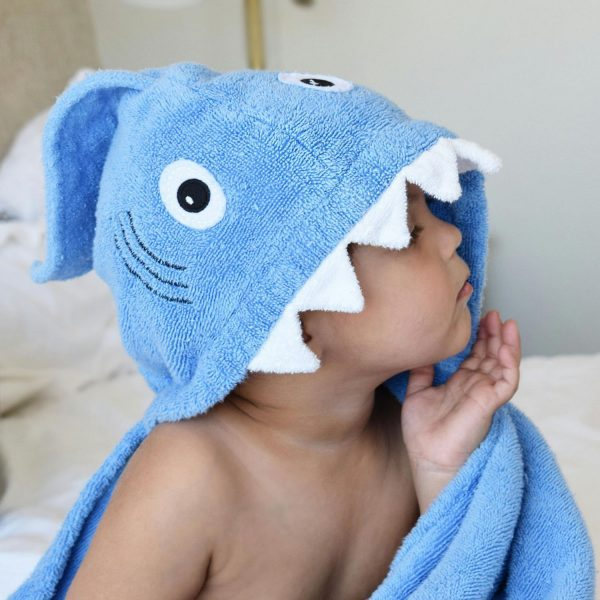 Yikes Twins Shark Hooded Towel