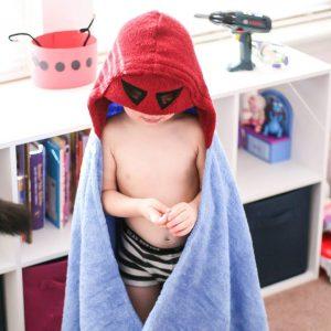Yikes Twins Superhero Hooded Towel