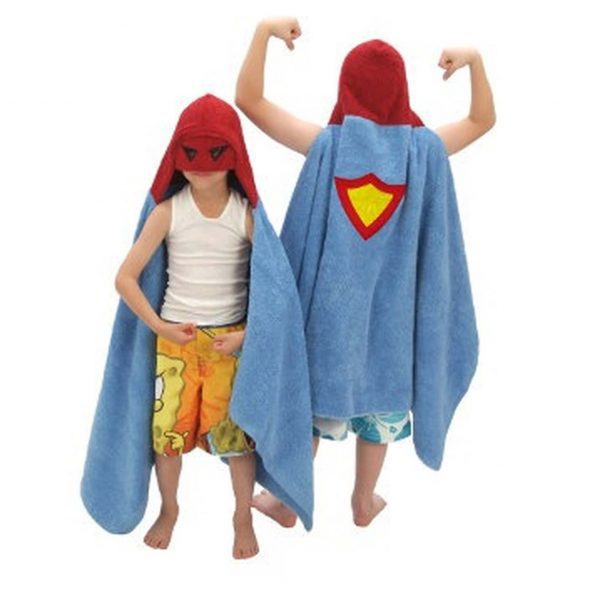 Yikes Twins Superhero Hooded Towel