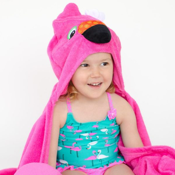 Zoocchini Flamingo Hooded Towel