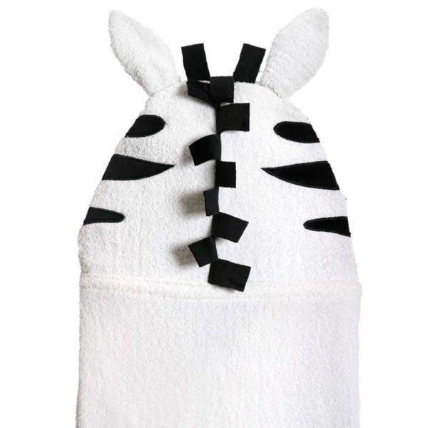 Zoocchini Zebra Hooded Towel