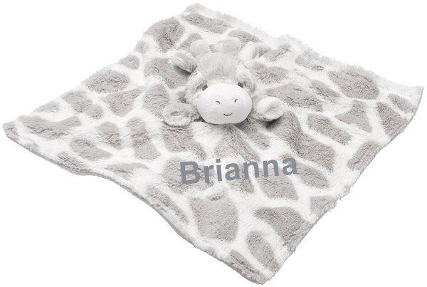 Elegant Baby Giraffe Blankie With Personalization