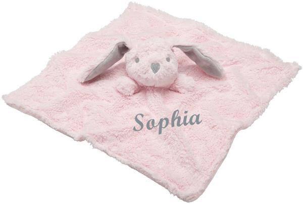 Elegant Baby Pink Bunny Blankie With Personalization