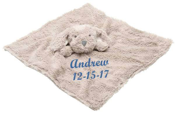 Elegant Baby Puppy Blankie With Personalization