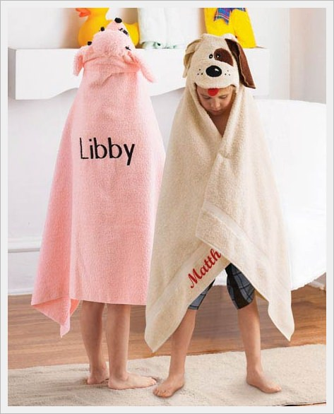 Hooded Towel Sample - Personalization On Front And Back