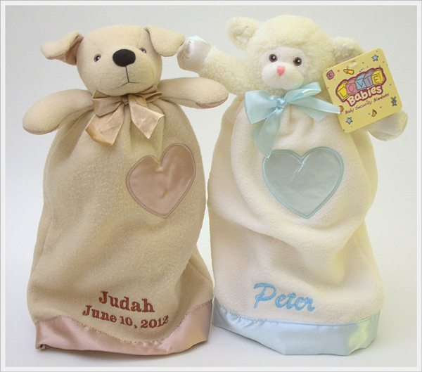 Komet Creations Terrier And Lamb 15 Inch Lovies With Personalization