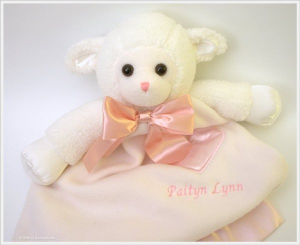 Komet Creations Lynne Lamb 24 Inch Lovie With Personalization