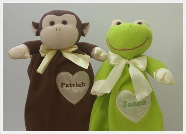 Komet Creations Frog And Monkey 24 Inch Lovies With Personalization