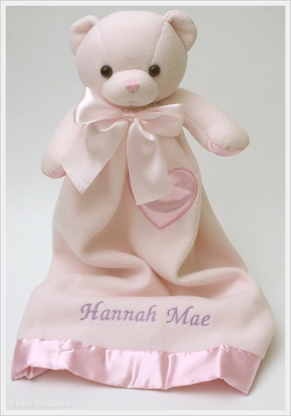 Komet Creations Pink Bernhardt Bear 24 Inch Lovie With Personalization