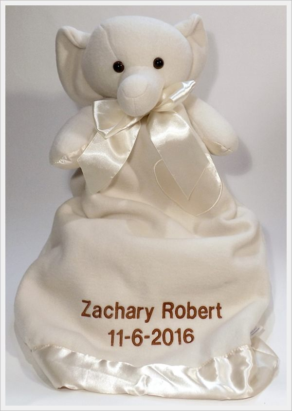 Komet Creations Tuscany Elephant 24 Inch Lovie With Personalization
