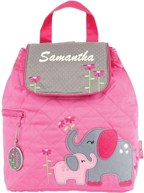 Stephen Joseph Elephant Quilted Backpack With Personalization