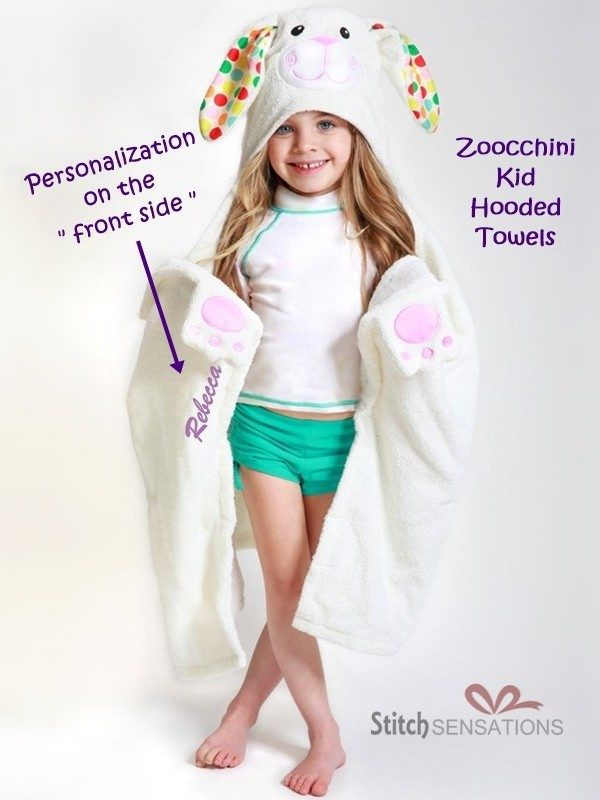 Zoocchini Bunny Hooded Towel Sample